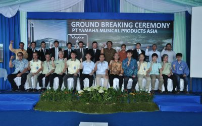 Ground Breaking Ceremony of PT. Yamaha Musical Products Asia