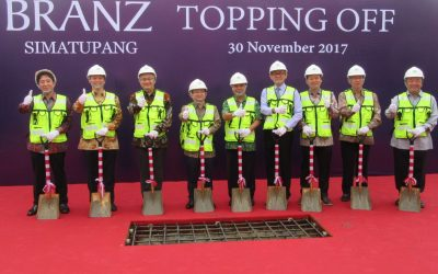 Topping Off Ceremony of Branz Simatupang PT. Tokyu Land Indonesia