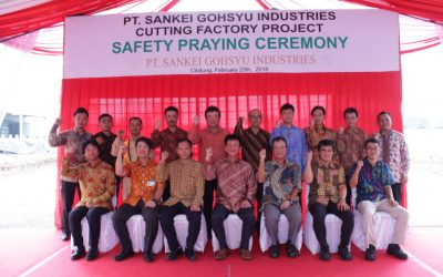 "Safety Praying Ceremony ""Cutting Factory Extension Project"" of PT. Sankei Gohsyu Industries"