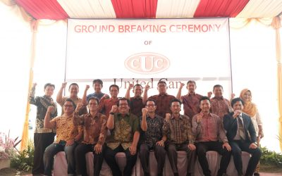 "Ground Breaking Ceremony ""PT. United Can – Pasuruan 2 Project"" of PT. United Can"