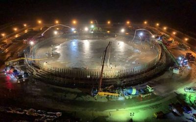 """""""Team Taiwan"""" Manages Continuous Concrete Pouring of Precast LNG Tank's Foundation"""